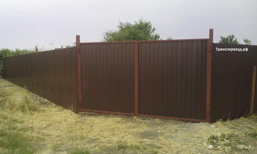 заборы из профнастила фото и ворота